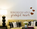 Begin Each Day Quotes Wall Art Stickers