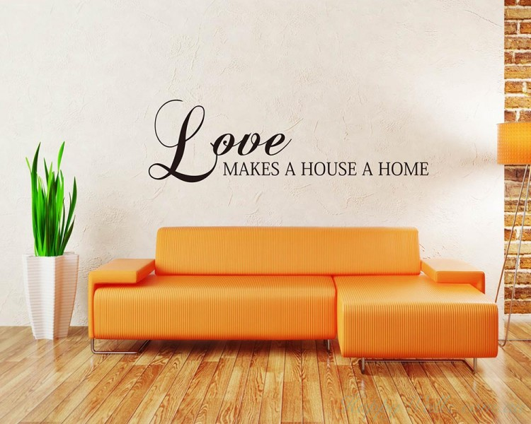 Love Makes a House a Home Quotes Wall Art Stickers