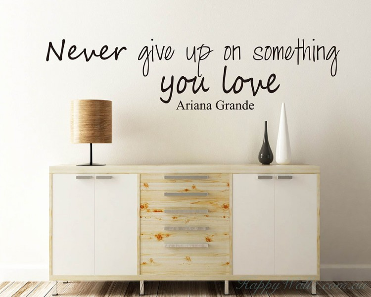 Never give up on something you love.