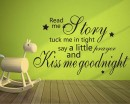 Read Me A Story Quotes Wall  Art Stickers