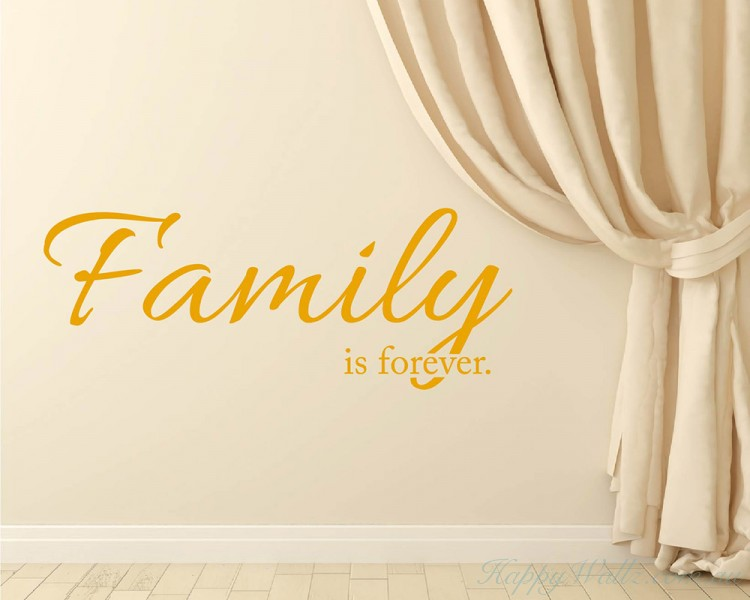 Family Is Forever Quotes Inspiration Is Forever Quotes Wall Art Stickers