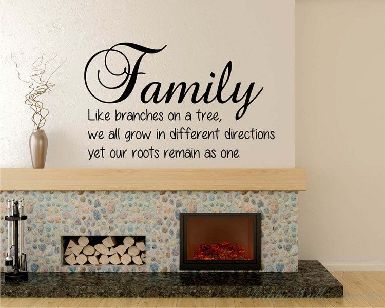 Family Quotes Wall Art Stickers