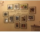 Family Where Life Begins Quotes Wall Art Stickers