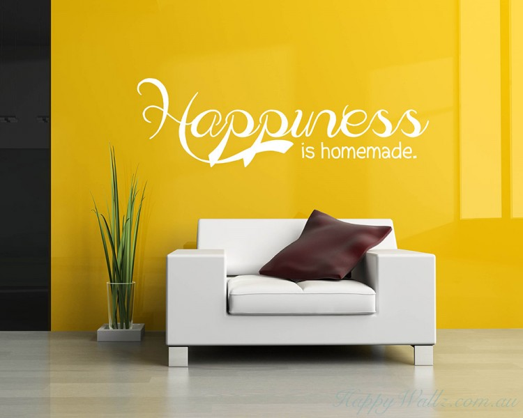 Happiness is Homemade Quotes Wall Art Stickers