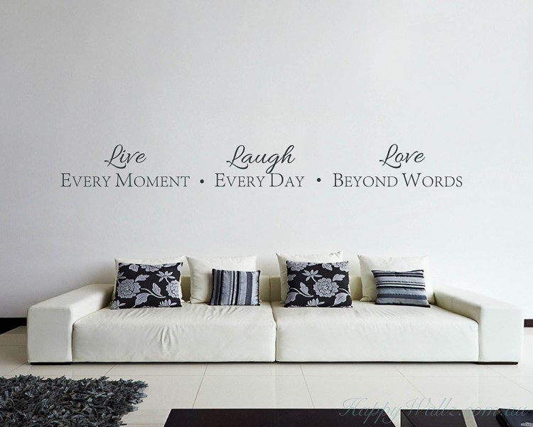 Live Laugh Love Quotes Wall Art Stickers Beauteous Love Quotes Wall Art