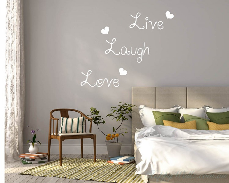 Live Laugh Love Quotes Wall  Art Stickers
