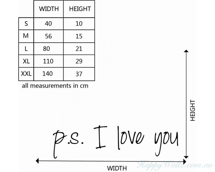 Ps I Love You Quotes Wall Decal Love Vinyl Art Stickers