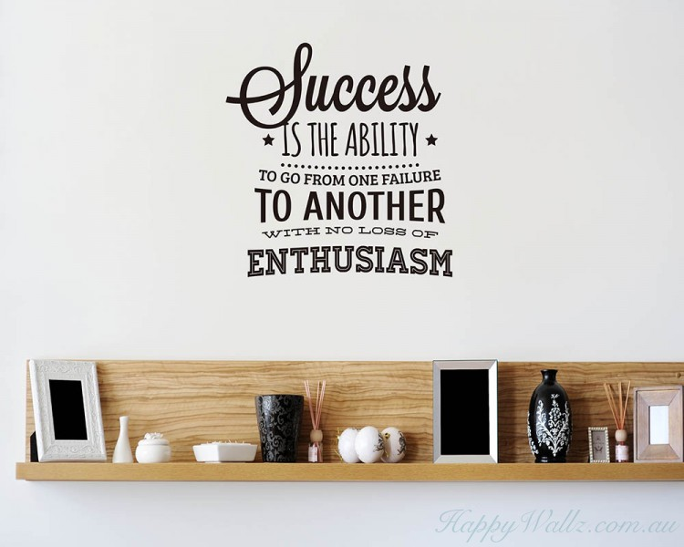 success quotes wall art stickers