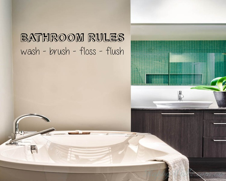 Bathroom Rules Quotes