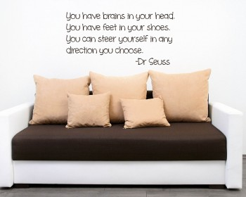 You Have Brains Quotes Wall Art Stickers Part 80