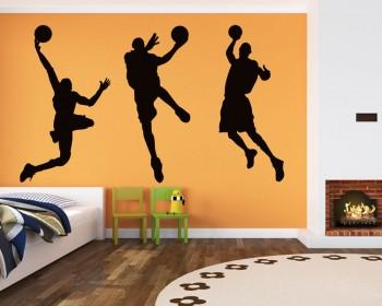 Basketball Man Silhouette Modern Wall Art Sticker