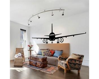 Airplane Silhouette Modern Wall Art Sticker