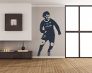 Famous Football Player  Silhouette Modern Wall Art Sticker