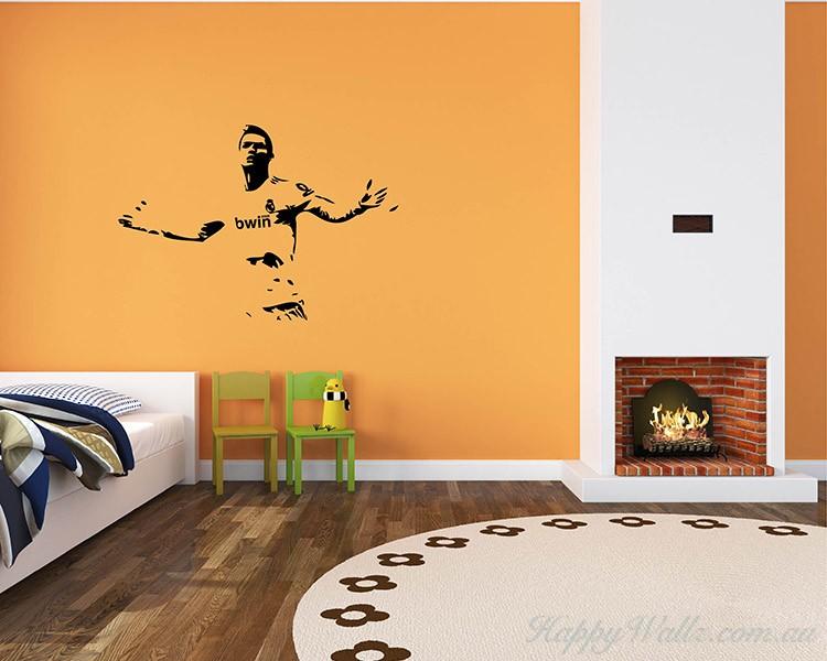 Famous Football Star Silhouette Modern Wall Art Sticker