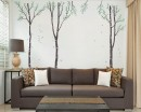 Large Birch Tree Wall Decal - Set of 3 Wall Decal Tree Art Stickers
