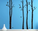 Birch Tree Wall Decal - Set of 4 Trees