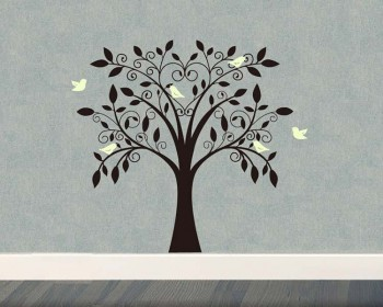 Tree And Birds Wall Decal Tree Art Stickers Part 88