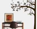 Tall Half Tree Wall Decal -  Tree Art Stickers