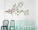 Plum Blossom Branch Wall Decal with Loving Birds  Stickers