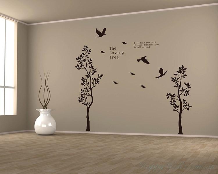 2 loving tree wall decal