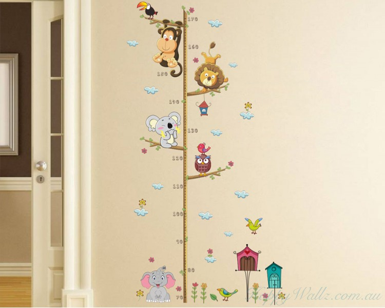 Tree Climbing Growth Chart Elephant, Monkey, Lion