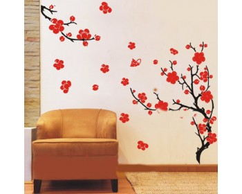 Plum Blossom Flowers And Branches Wall Sticker Part 93