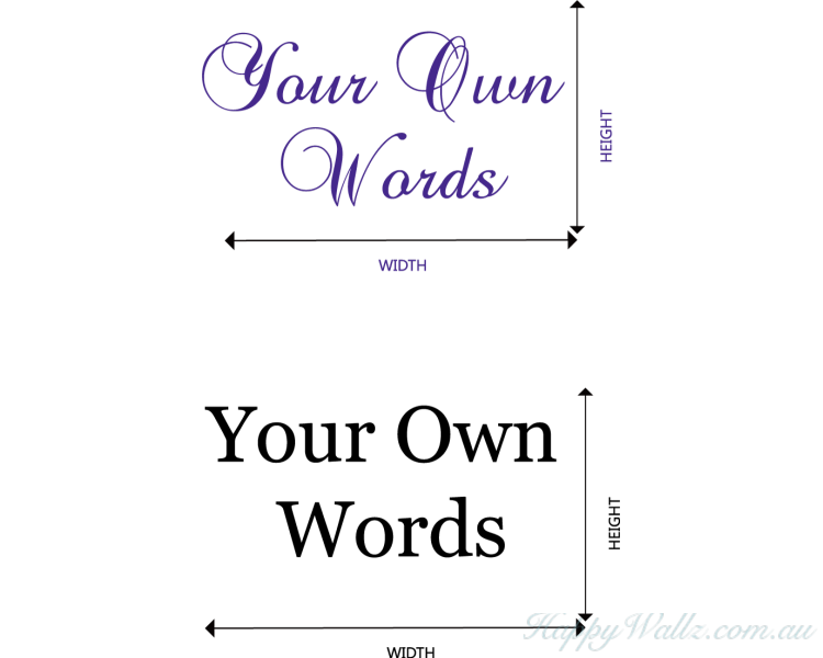 create your own words custom wall decal