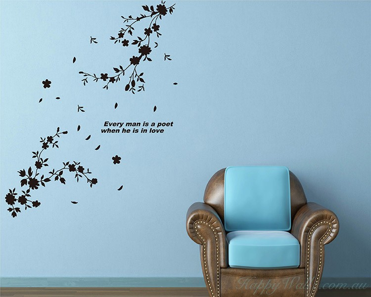 Flowers in Bloom Decals Modern Wall Art