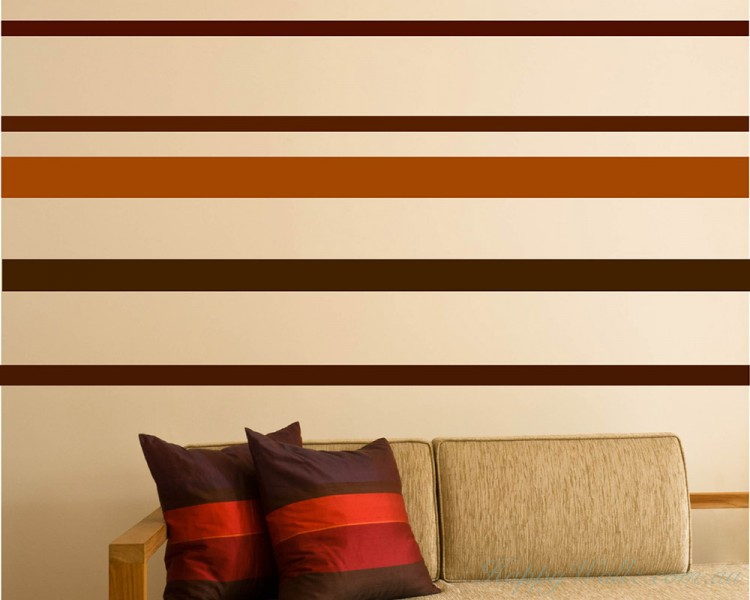 stripe wall pattern art stickers wall decal awesome black stripe wall decal removable wall
