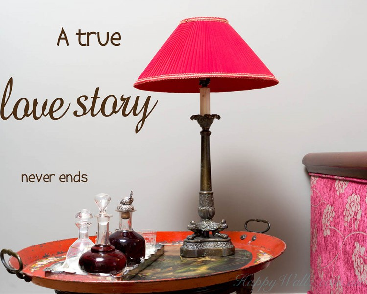 A True Love Story Quotes Wall Art Stickers