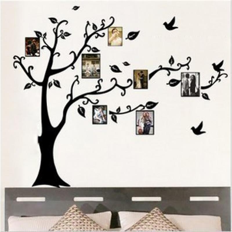 photo frames family tree wall sticker