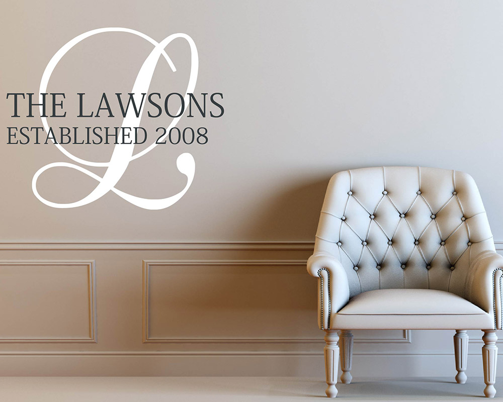 Customised family name wall art decal amipublicfo Image collections