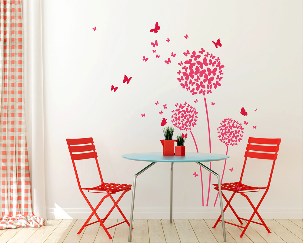 Wall stickers australia nursery kids wall decalsremovable vinyl beautiful butterfly dandelion flowers wall decals amipublicfo Images