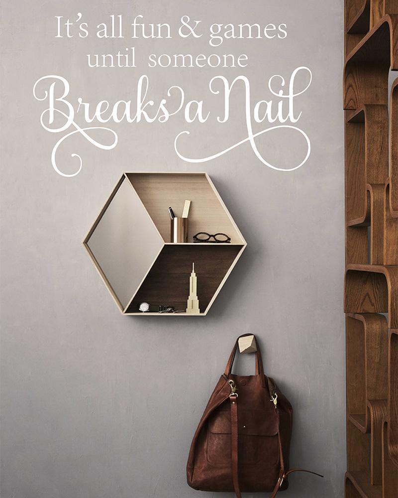 Foyer Salon Quotes : Nail salon wall decal