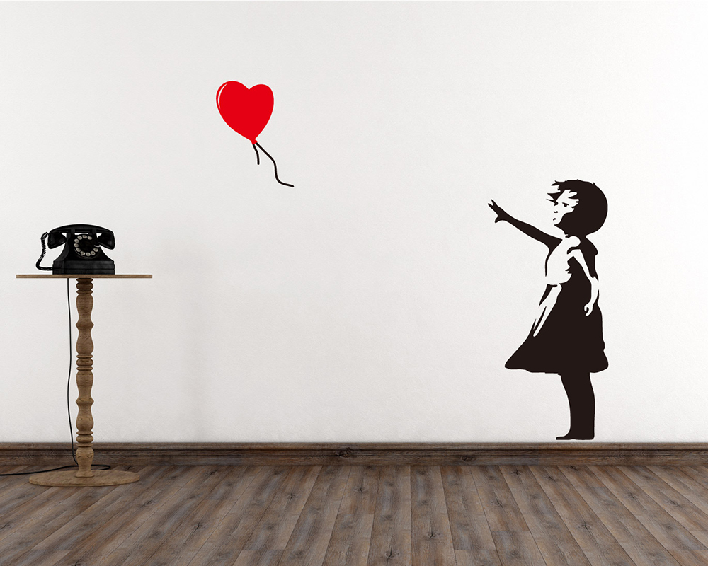 & Banksy Wall Stickers - Banksy Vinyl Wall Art Decals
