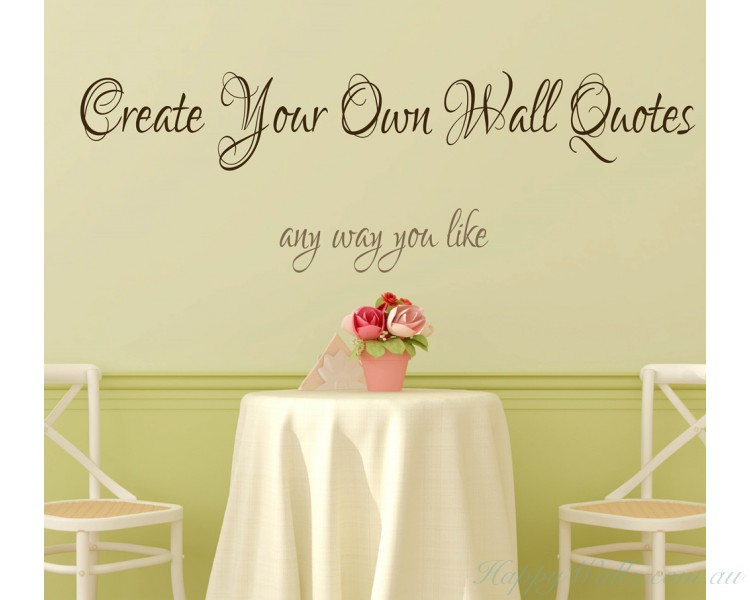 Personalised Wall Decals & Quotes | Custom Your Own Family Initial ...